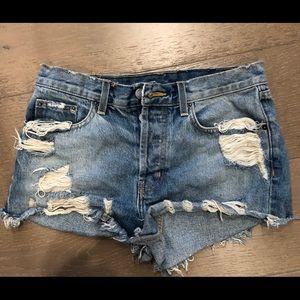 LF Carmar denim shorts. Size 28